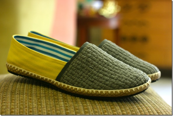 Gray and Yellow Shoes from Habi Footwear